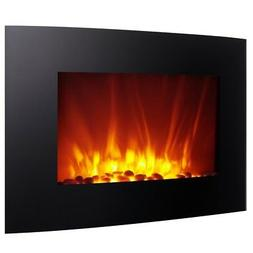 Homegear 1500W Wall Mounted 2-in-1 Electric Fireplace/Heater