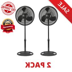 "16"" Adjustable Oscillating Pedestal Fan Stand Floor 3 Spee"
