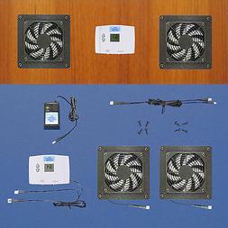 2-Zone AV cabinet cooling fans / Digital thermostat / multi-