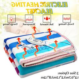 220V Electric Heated Blanket Flannel Soft Winter Warm Pad Ca