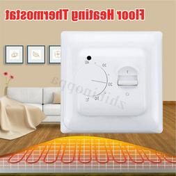 220V Manual Floor Heating Thermostat Mechanical Home Electri