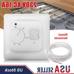 230V Manual Floor Heating Thermostat Temperature Control For