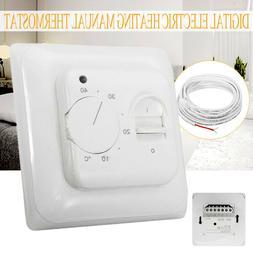 230V Manual Floor Heating Thermostat Temperature Control Hom