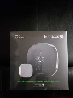 ecobee - ecobee4 Wi-Fi Thermostat with Room Sensor and Built