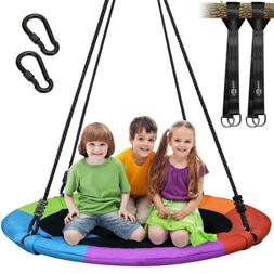 "40"" Flying Saucer Tree Swing Nest 700 lbs Children's Colorfu"
