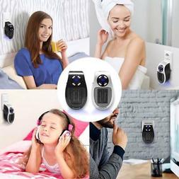 500W Plug-in Wall-Outlet Space Mini Heater Portable Durable