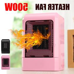 500W Portable Electric Space Heater Fan Air Warmer Home Offi