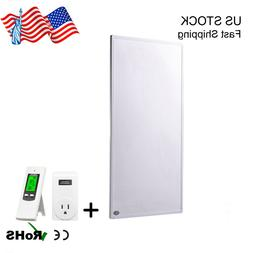 600W Infrared Wall Heating Panel Wireless Thermostat Control