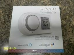 LUX/GEO 7-Day Programmable WiFi Thermostat in White for iPho