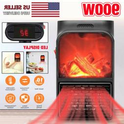 900W Electric Space Heater Quiet Personal Heater With Thermo