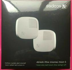 BRAND NEW!! Ecobee Pack 2 room sensors with stands for therm