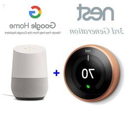 Bundle Smart Home Nest Thermostat 3rd Generation Copper + Go