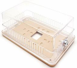 Clear Plastic Thermostat Guard - See Thru - Solid Base - 8.2