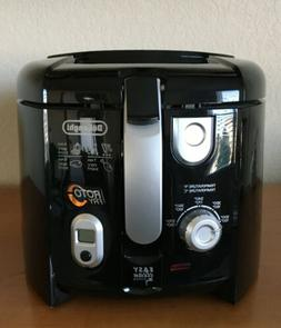 Delonghi COOL-TOUCH Electric Deep Fryer with All NEW Tilted