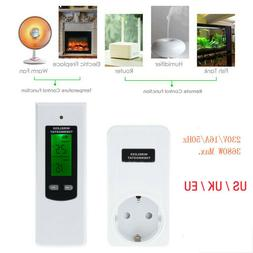 Digital Wireless Thermostat Outlet Home RF Plug In Heating S