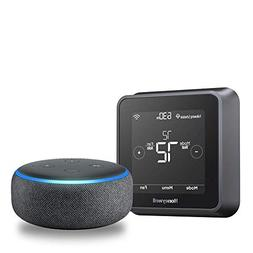 Echo Dot  - Charcoal + Honeywell T5+ Smart Thermostat