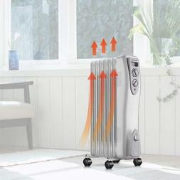 Electric Oil Filled Radiator Heater Home Room Adjustable The
