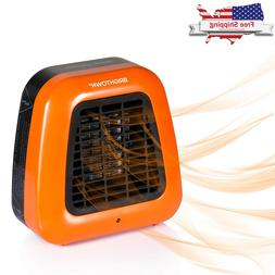 Electric Space Heater Thermostat Home Heat Ceramic Fan Porta