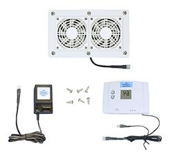 AV Cabinet Cooling Fans with Digital Thermostat & Multi-Spee