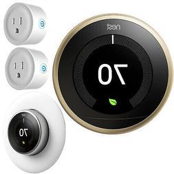 Google Nest Learning Smart Thermostat 3rd Gen Brass T3032US