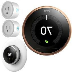 Google Nest Learning Smart Thermostat 3rd Gen Copper T3021US