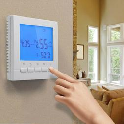 Home Programmable Wifi Heated Digital Thermostat LCD Screen