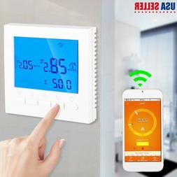 home programmable wifi wireless heated digital thermostat