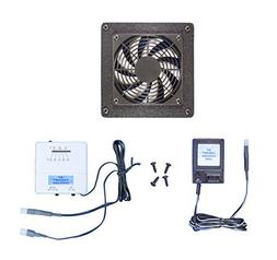 Home Theater or Computer Cabinet Cooling Fan with Thermostat