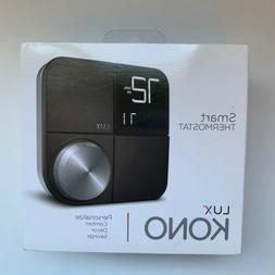 Lux Kono Smart Wi-Fi Thermostat with Interchangeable Black S