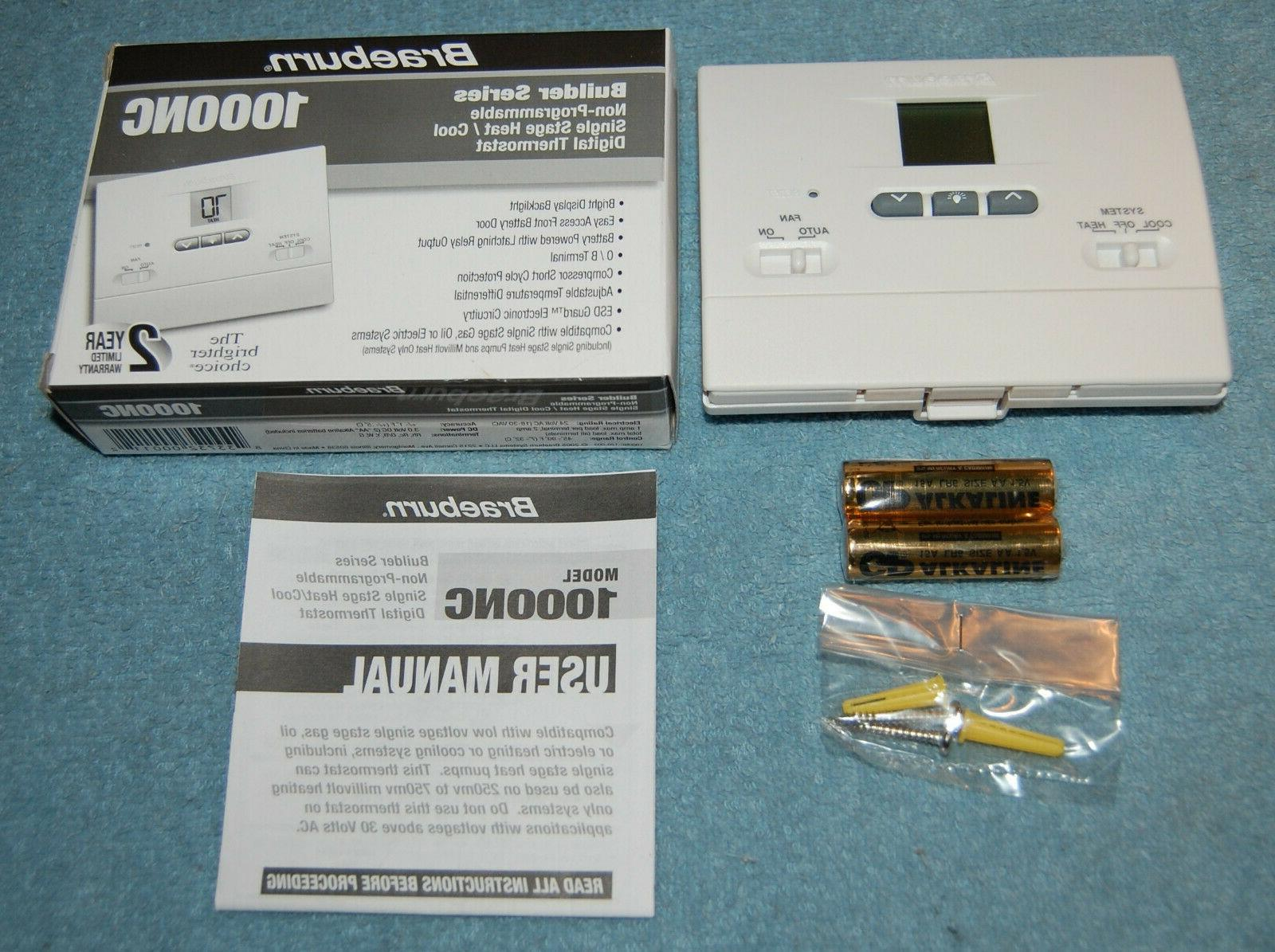 1000nc non programmable heat or cool digital