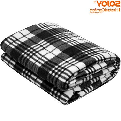 Sojoy 12V Electric Blanket for Truck, or with High/Low Temp