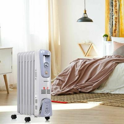 1500W Filled Radiator Space Heater Thermostat Room