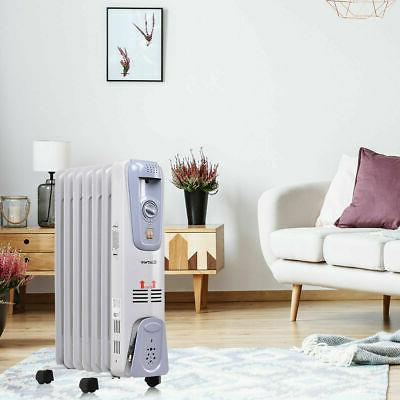 1500W Radiator Space Heater 7-Fin Thermostat Radiant