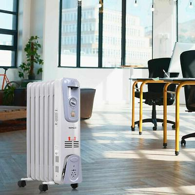 1500W Electric Radiator Space Thermostat Room Radiant