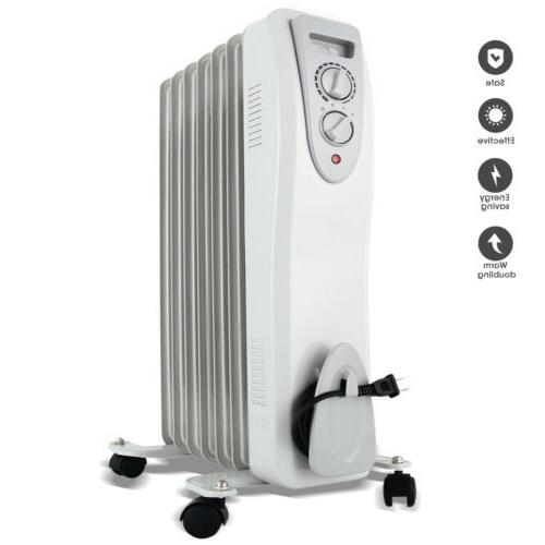 1500W Electric Oil Radiator Space Heater Room Thermostat Rad