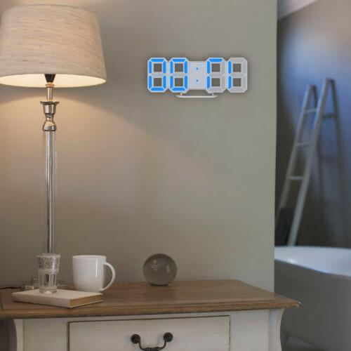 Blue LED Wall Clock Clock