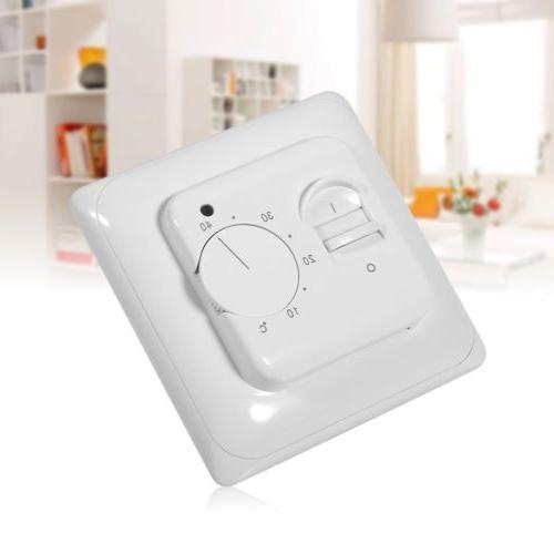 230v manual floor heating thermostat temperature control
