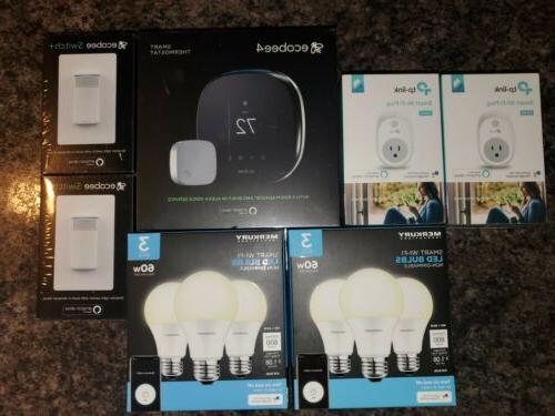 4 programmable thermostat and switch smart home