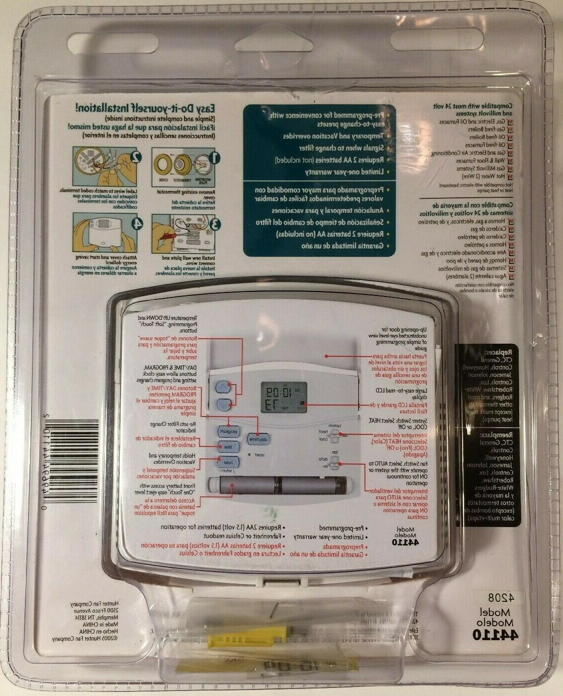 Hunter 44110  Set And Save Programmable Thermostat