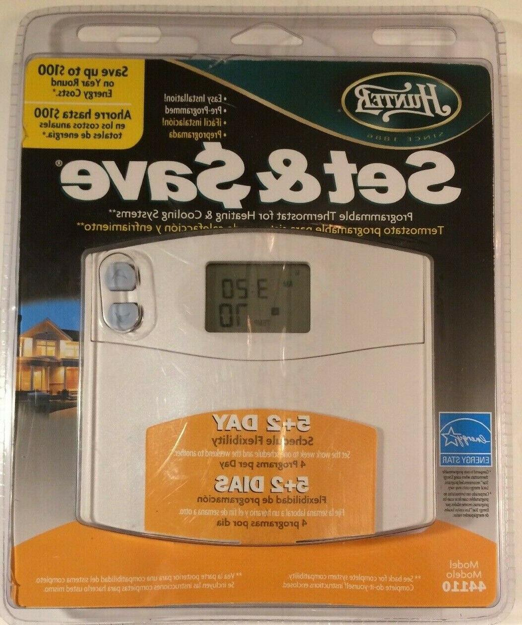 44110 set and save programmable thermostat nib