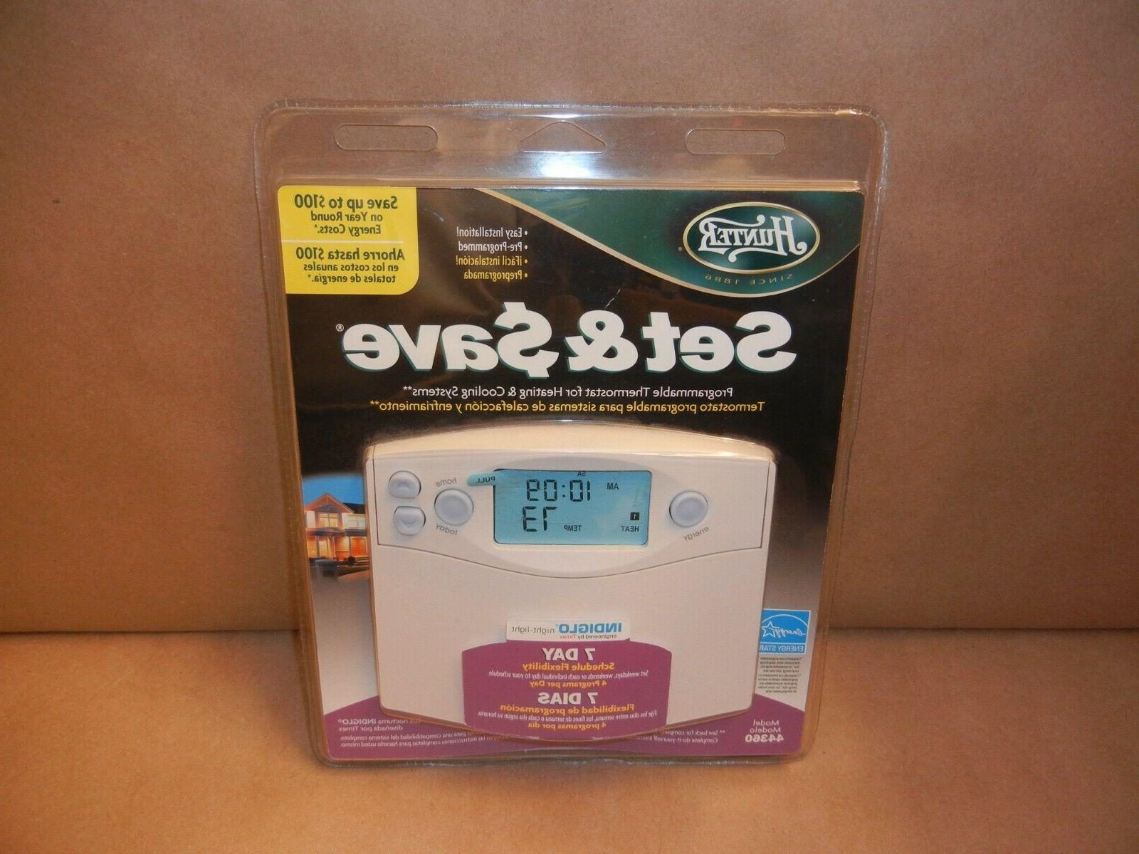 Hunter 44360 Set Save 7-Day Programmable Thermostat