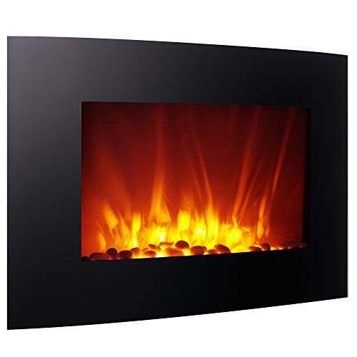 Homegear 1500W Wall Mounted 2-in-1 Electric Fireplace/Heater