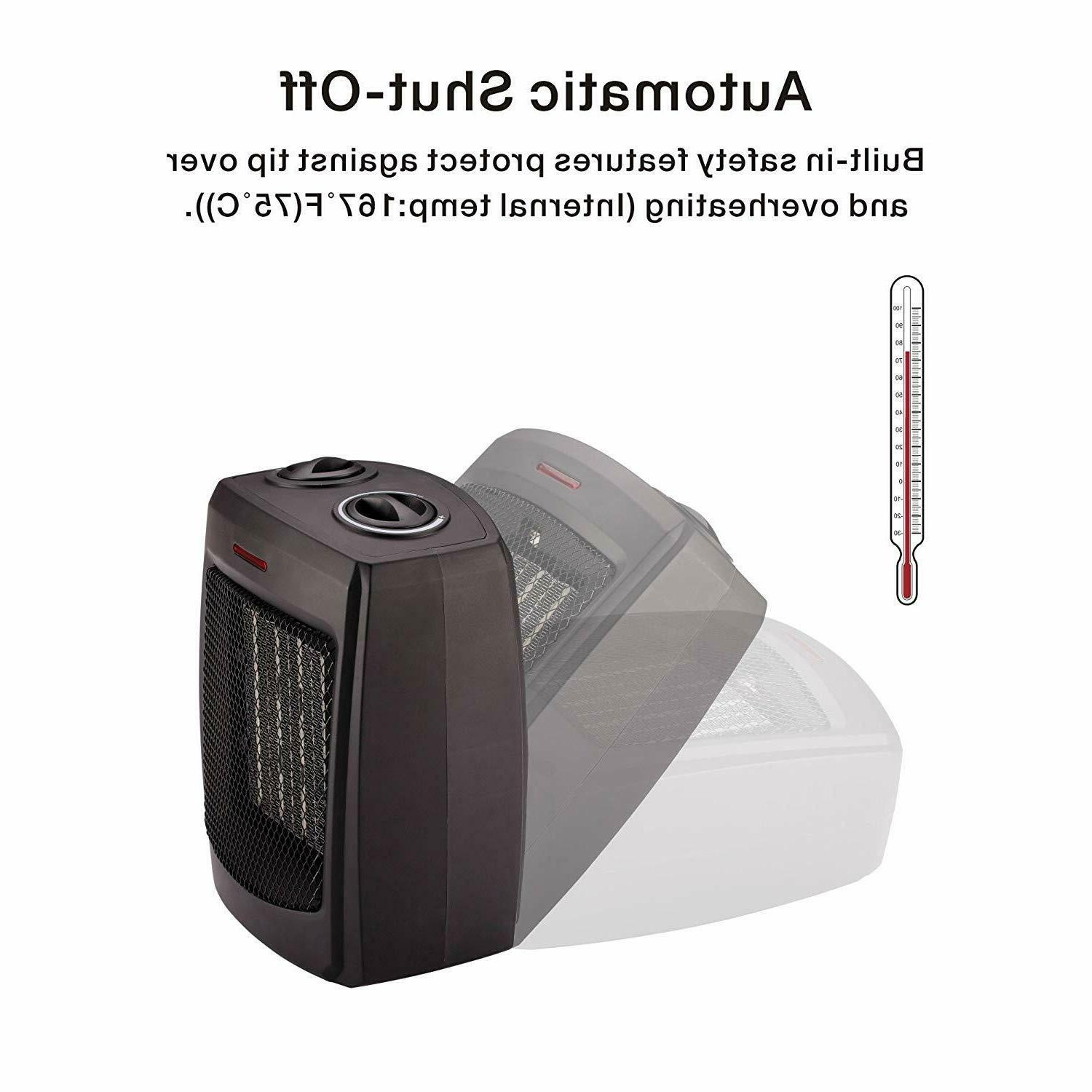 Andily Portable Ceramic Small W Thermostat
