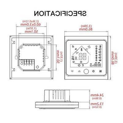 app control thermostat electric floor heating black