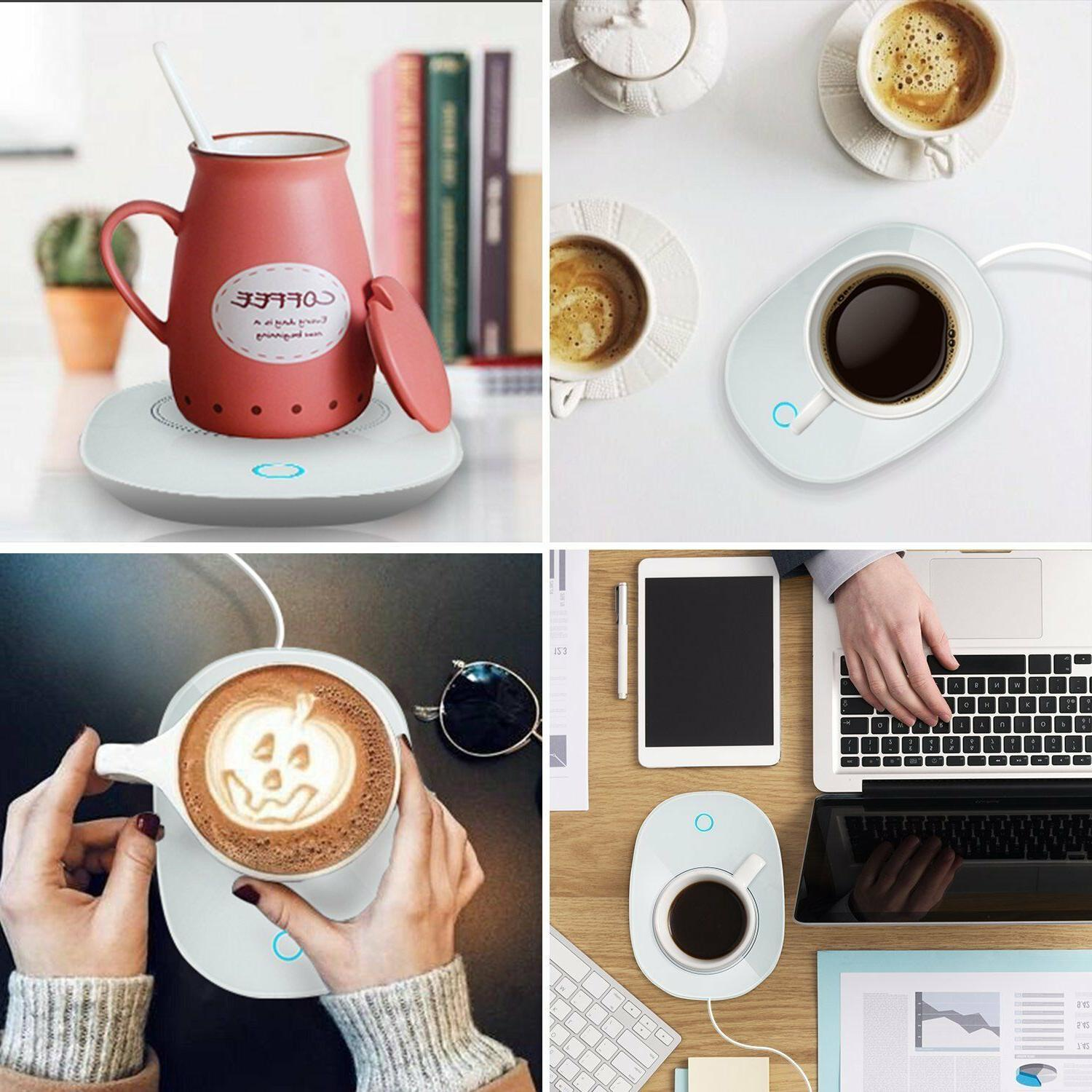 Automatic Thermostatic mug Warmer for Use Up to 55℃