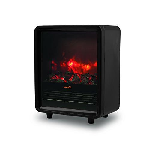 Crane Black Fireplace EE-8075BK