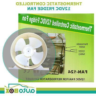 caravan 12v cooling fridge fan thermostatic switch