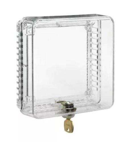 clear plastic small locking thermostat cover guard