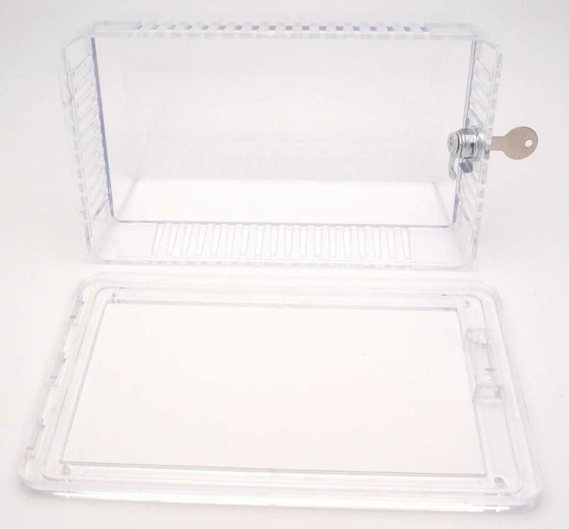 """Clear - See Thru - Solid Base - 8.25"""" x 5.37"""" L"""