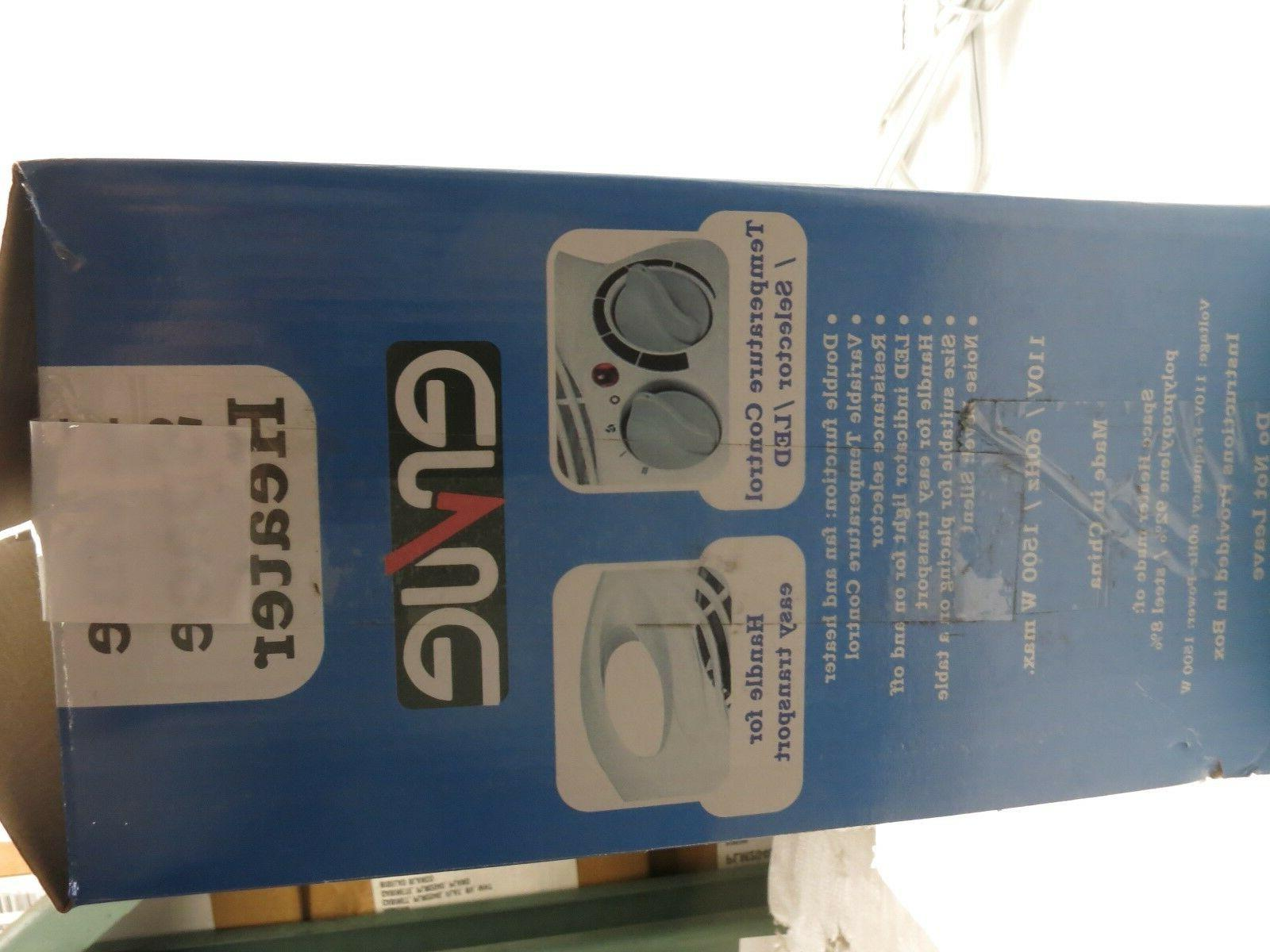 ERVUE Compact Space Fan 1500W, Adjustable Thermostat
